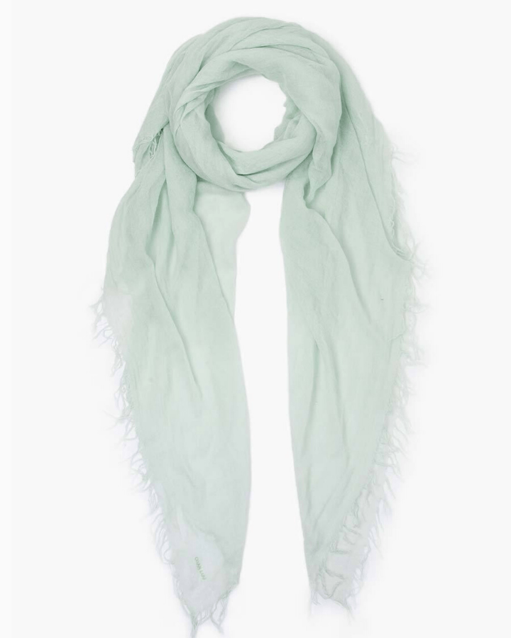 Chan Luu Accessories Cashmere & Silk Scarf in Green Lily