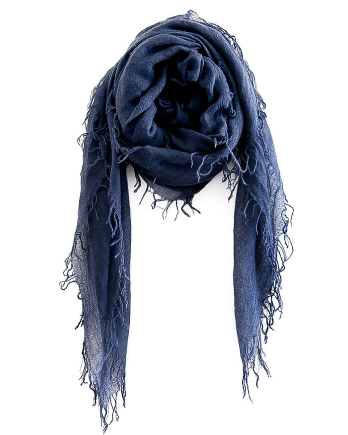 Chan Luu Accessories Cashmere & Silk Scarf in Indigo