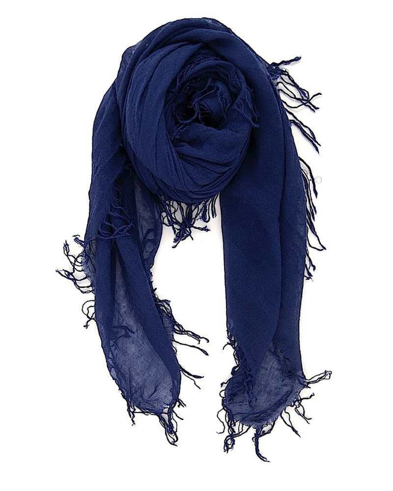 Chan Luu Accessories Cashmere & Silk Scarf in Medieval Blue