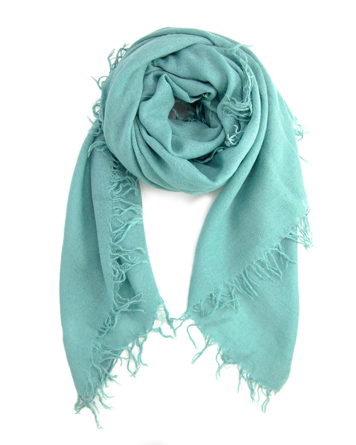 Chan Luu Accessories Cashmere & Silk Scarf in Mineral Blue