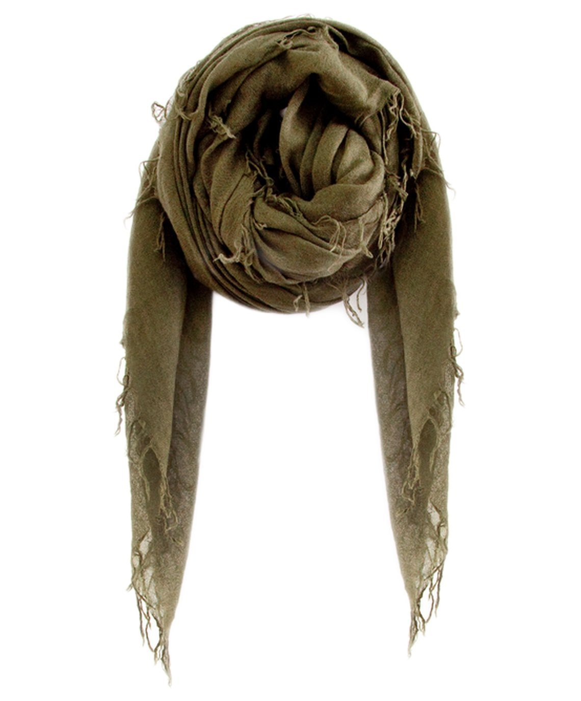 Chan Luu Accessories Cashmere & Silk Scarf in Olive