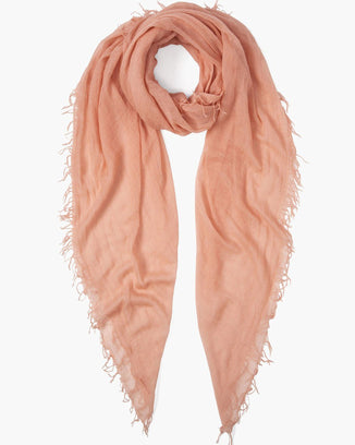 Chan Luu Accessories Cashmere & Silk Scarf in Peach Amber