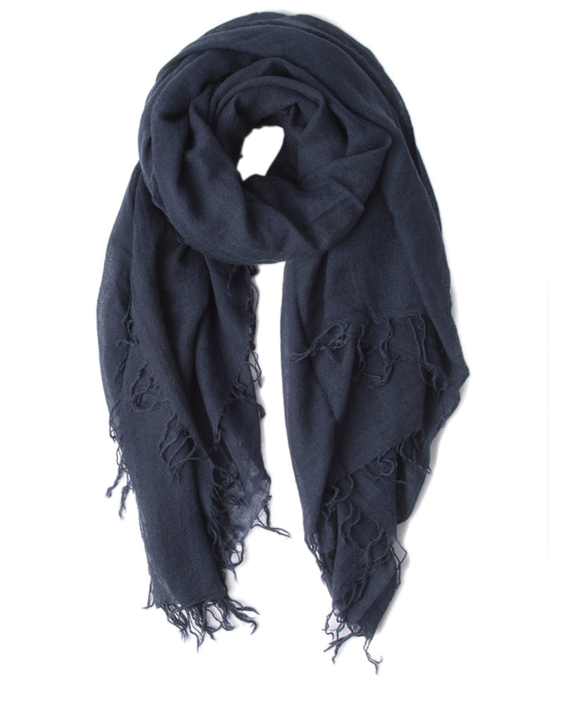 Chan Luu Accessories Cashmere & Silk Scarf in Total Eclipse
