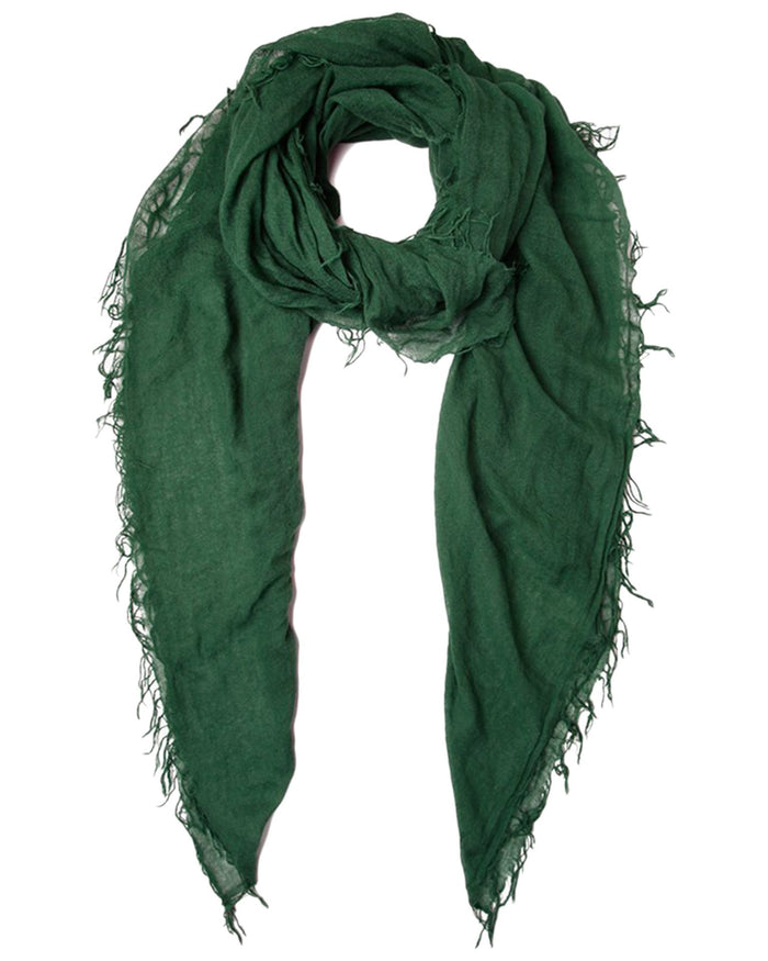 Chan Luu Accessories Cashmere & Silk Scarf in Trekking Green