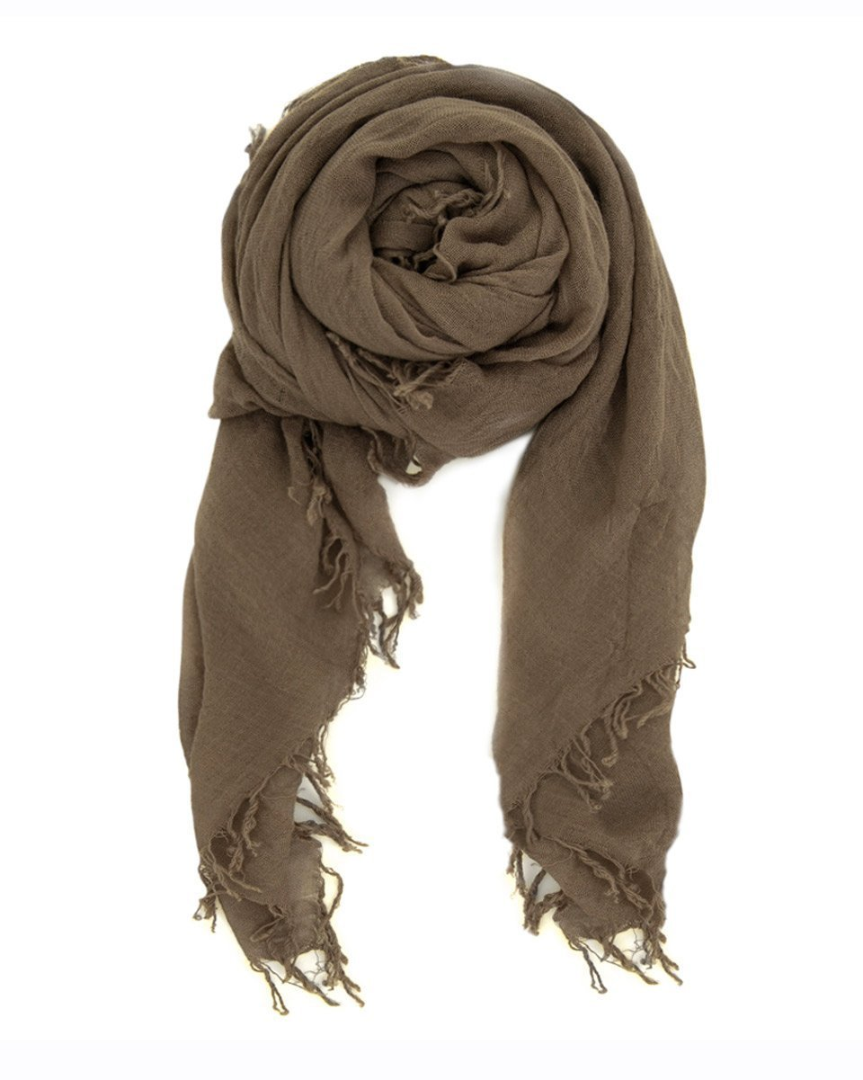 Chan Luu Accessories Cashmere & Silk Scarf in Walnut