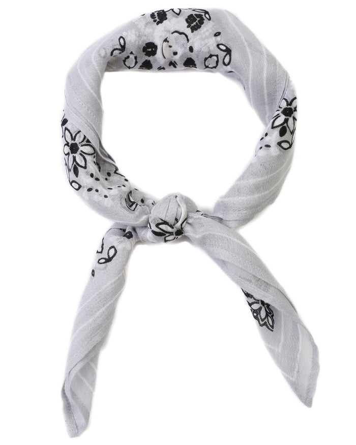 Chan Luu Accessories Gray Dawn / O/S Rosette Bandana