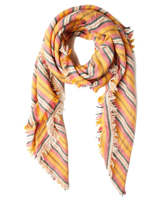Chan Luu Accessories Six Color Stripe Scarf in Meadow Mauve