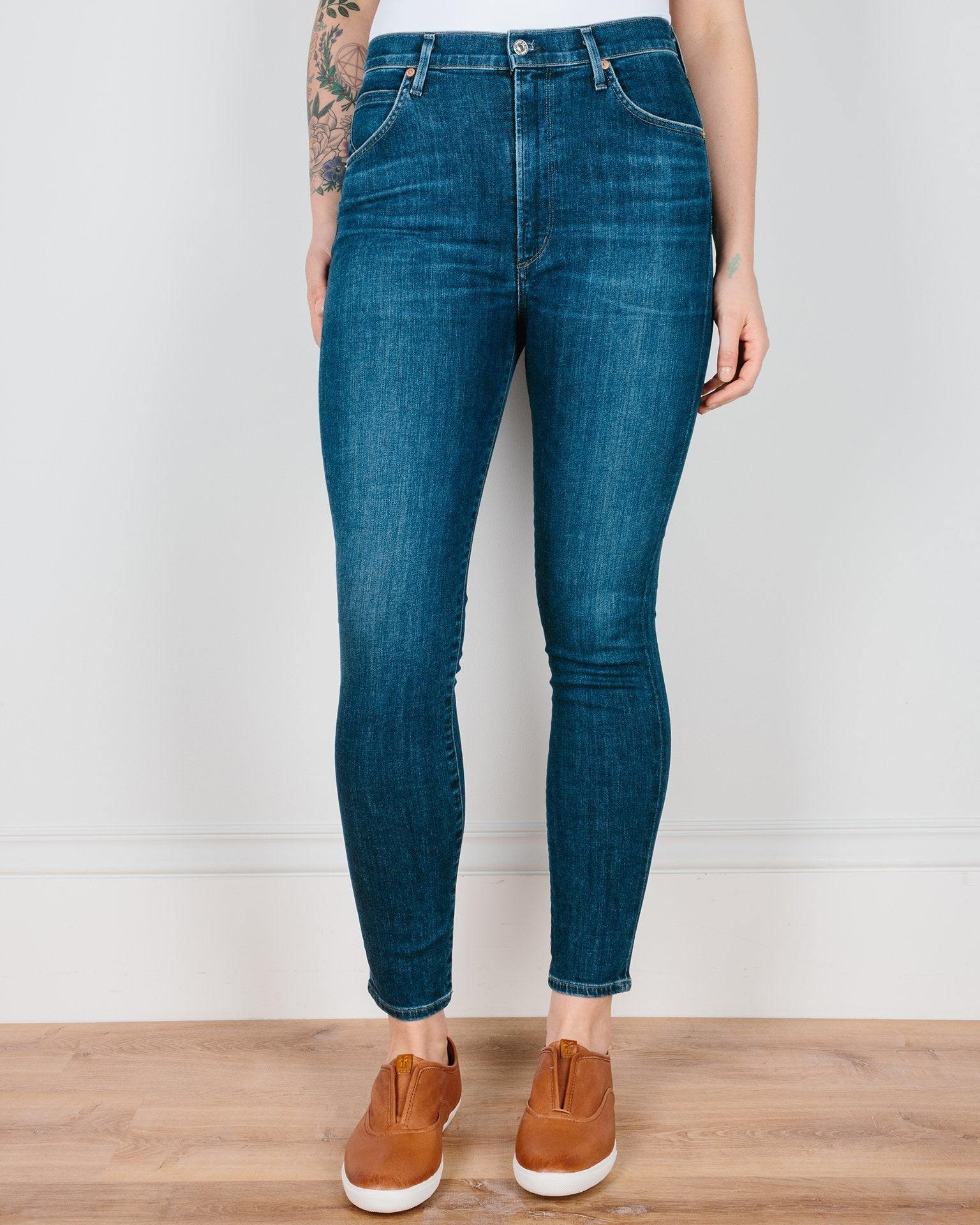Citizen's of Humanity Denim Carmel / 25 Chrissy High Rise Skinny in Carmel
