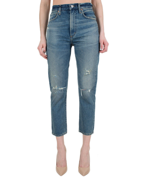 Citizen's of Humanity Denim Cameo / 24 Dree Crop H/R Slim Straight Zip Fly