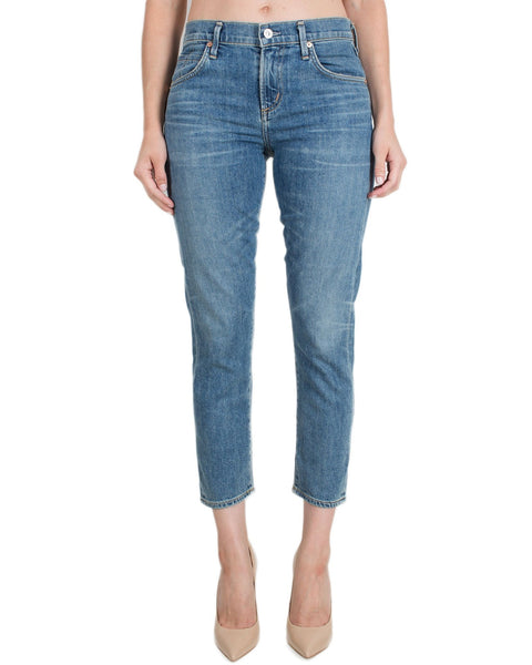 Citizen's of Humanity Denim Liaison / 25 Elsa Mid Rise Slim Crop-Liaison