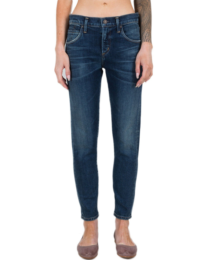 Citizen's of Humanity Denim New Moon / 24 Elsa Mid Rise Slim Fit Crop in New Moon