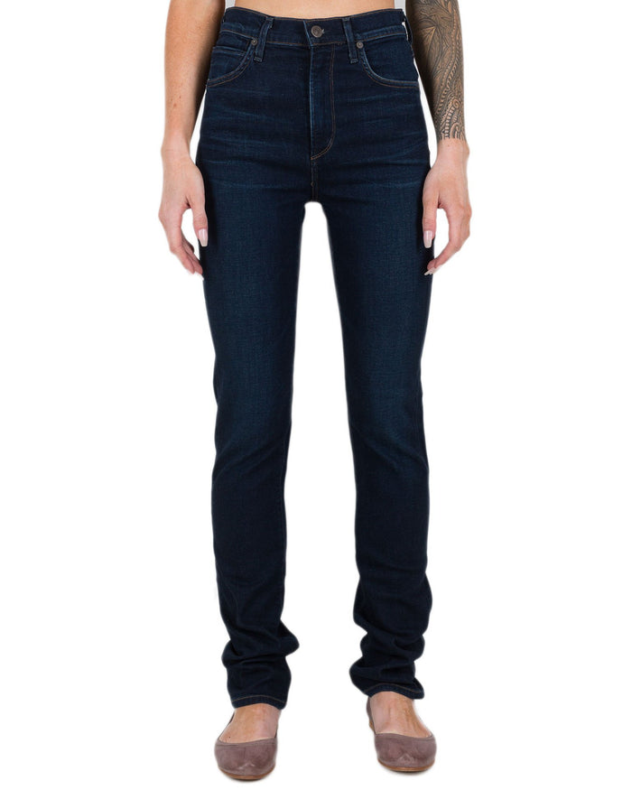 Citizen's of Humanity Denim Galaxy / 24 Mila High Rise Cigarette in Galaxy