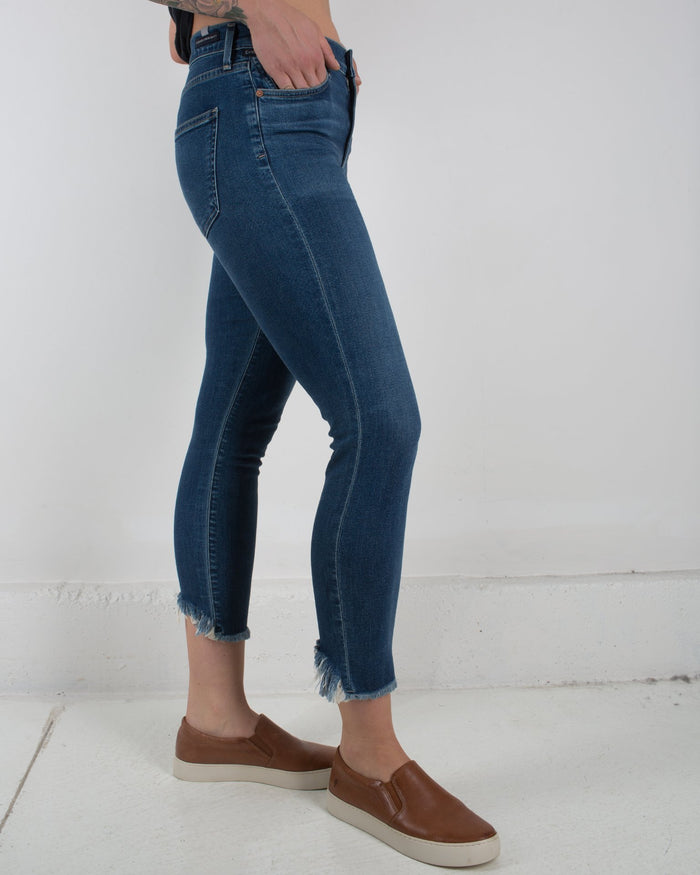 Citizen's of Humanity Denim Frequency / 24 Rocket Crop High Rise Skinny in Frequency