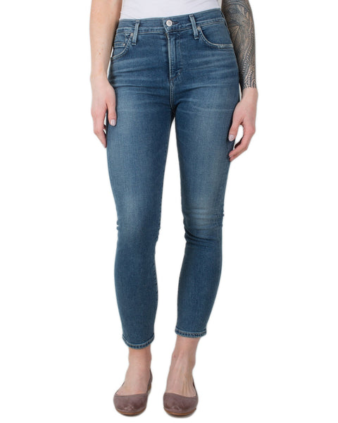 Citizen's of Humanity Denim Orbit / 24 Rocket Crop High Rise Skinny