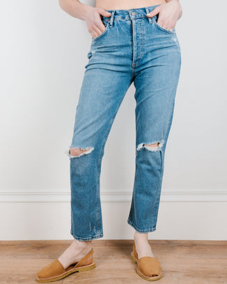 Citizens of Humanity Denim Charlotte Crop in Morning Light