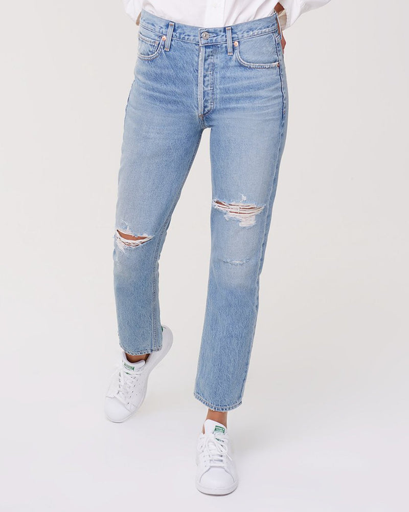 Citizens of Humanity Denim Charlotte High Rise Straight in Moondust