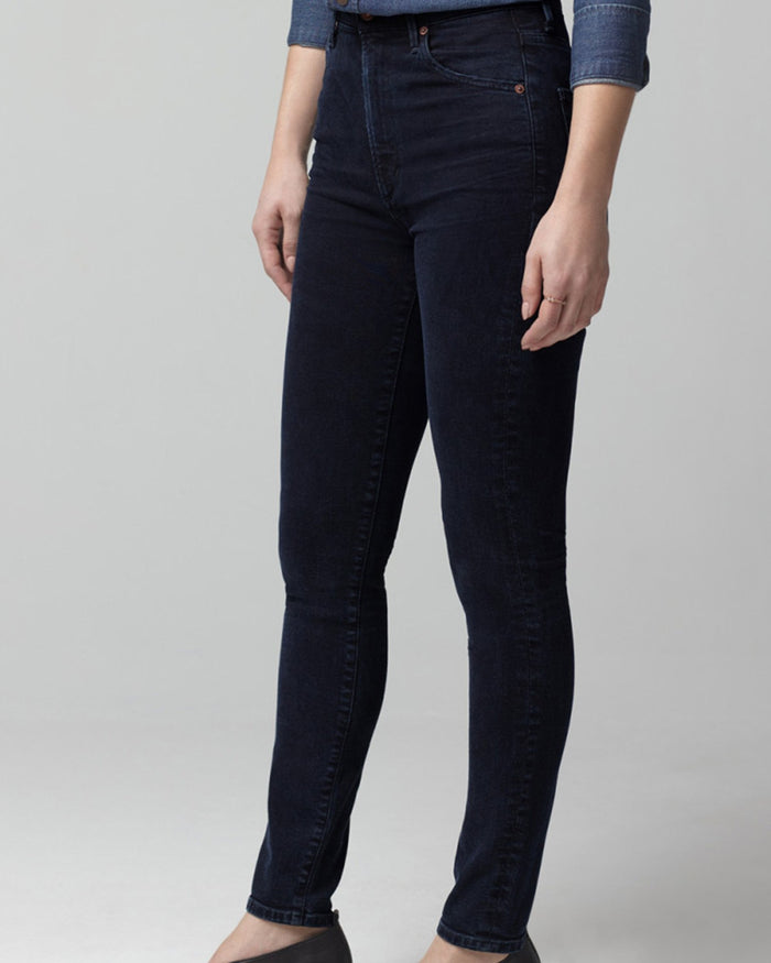 Citizens of Humanity Denim Chrissy High Rise Skinny in Inkwell