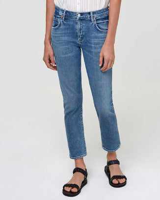 Citizens of Humanity Denim Elsa Mid Rise Slim Crop in Starry Night