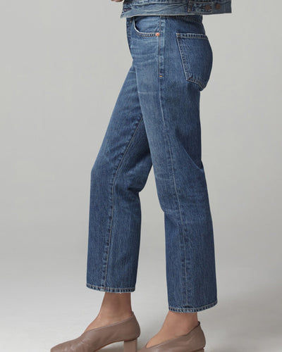 Citizens of Humanity Denim Emery High Rise Relaxed Crop in Blue Rose