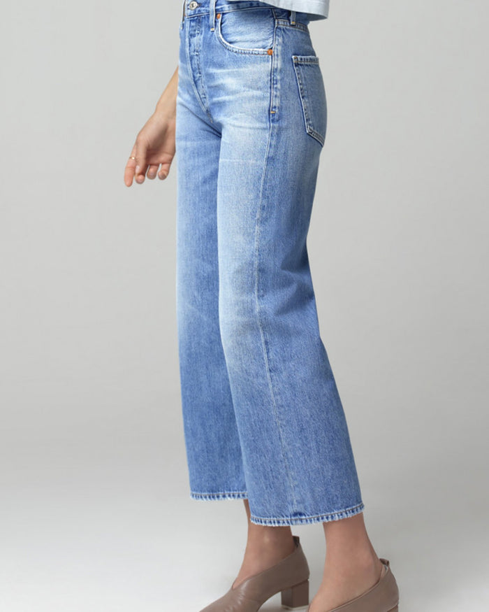 Citizens of Humanity Denim Sacha High Rise Wide Leg in Tularosa