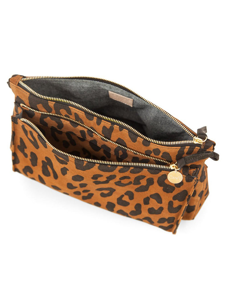 Clare V. Accessories OS / Cognac Pablo Cat Suede Gosee Clutch in Cognac Pablo Cat Suede