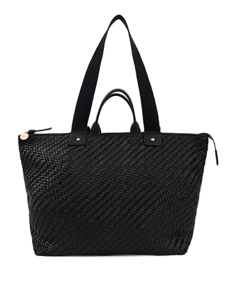Clare V. Accessories Le Zip Sac in Black Zig Zag