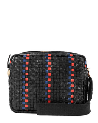Clare V. Accessories Marisol in Black w/ Pacific & Cherry Red