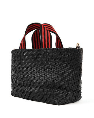 Clare V. Accessories Petit Bateau in Black Zig Zag