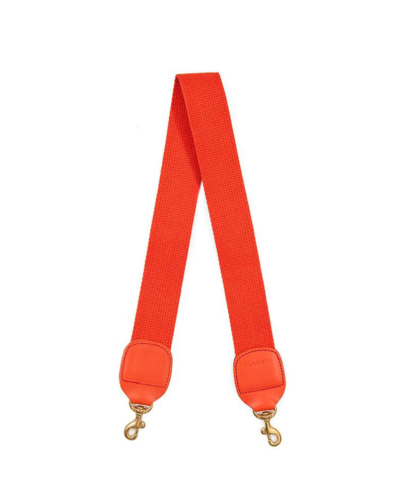 Clare V. Accessories OS / Poppy Shoulder Strap in Poppy