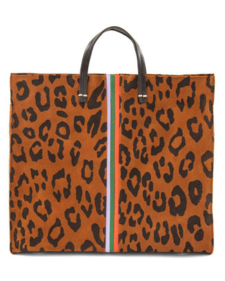 Clare V. Accessories OS / Cognac Pablo Cat Suede Simple Tote in Cognac Pablo Cat Suede