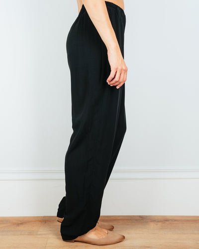 CP Shades Clothing Amal Tapered Pant in Black Rayon