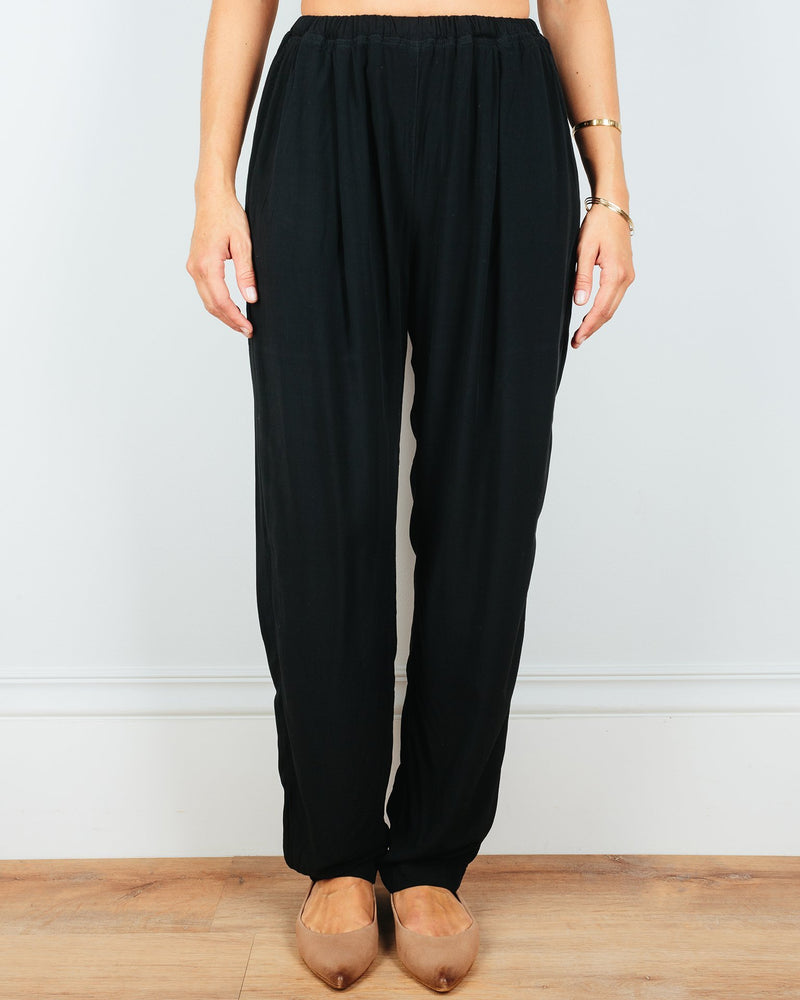 CP Shades Clothing Black / XS Amal Tapered Pant in Black Rayon
