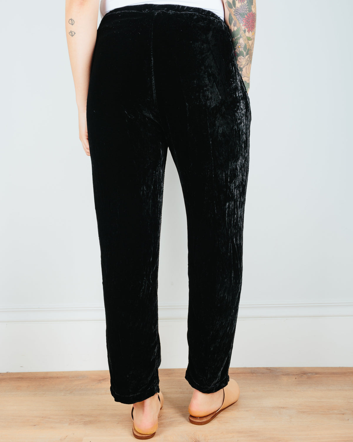 CP Shades Clothing Amal Tapered Pant in Black Velvet
