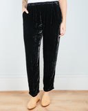 CP Shades Clothing Black / XS Amal Tapered Pant in Black Velvet
