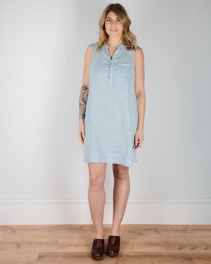 CP Shades Clothing Perla / XS Avery Henley Tank Dress in Perla Linen