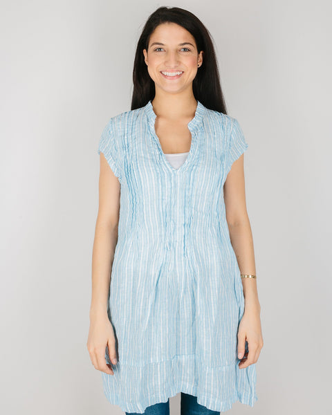 CP Shades Clothing Baby Blue Stripe / XS Cap Sleeve Regina in Baby Blue Stripe