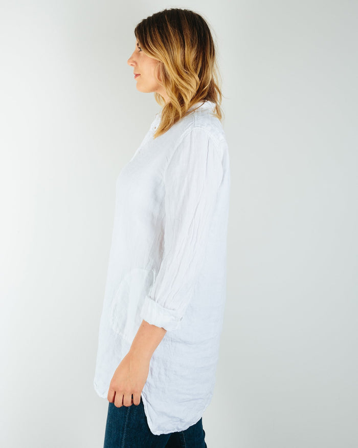 CP Shades Clothing Cecelia in White Linen Twill