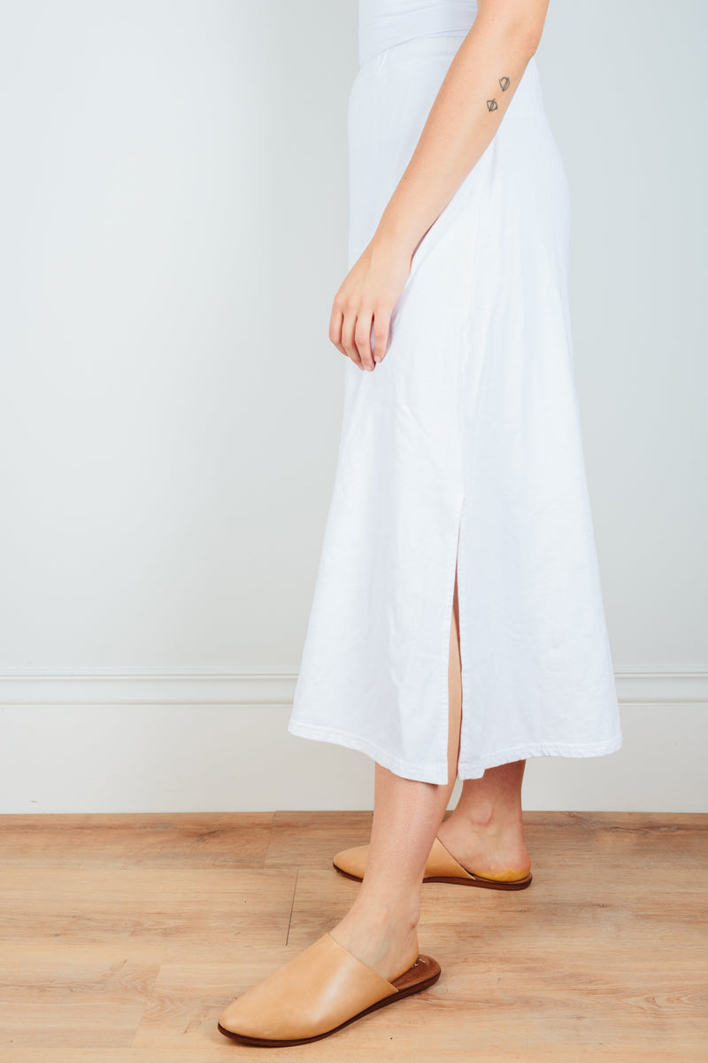 CP Shades Clothing Chloe Cotton Fleece Skirt in White
