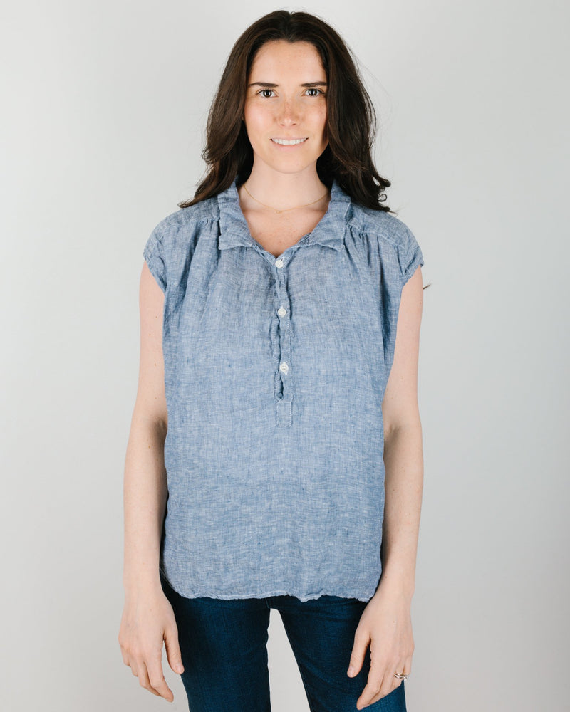 CP Shades Clothing Claire Top in Ink Chambray
