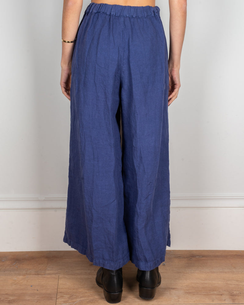 CP Shades Clothing Cropped Wendy Pant in Marine Heavy Weight Linen