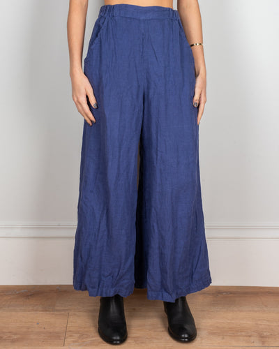 CP Shades Clothing Marine / XS Cropped Wendy Pant in Marine Heavy Weight Linen