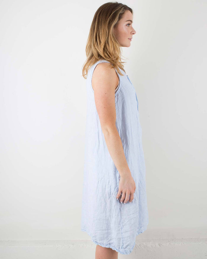 CP Shades Clothing Blue & White / XS Darcy Button Down Tank Dress