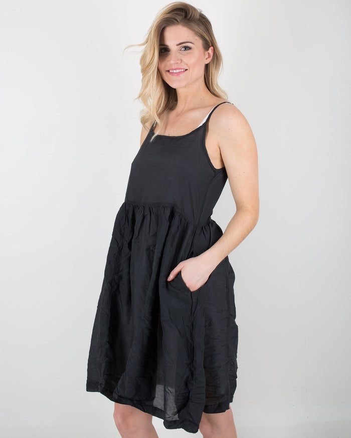 CP Shades Clothing Black / XS Dot Tank Dress