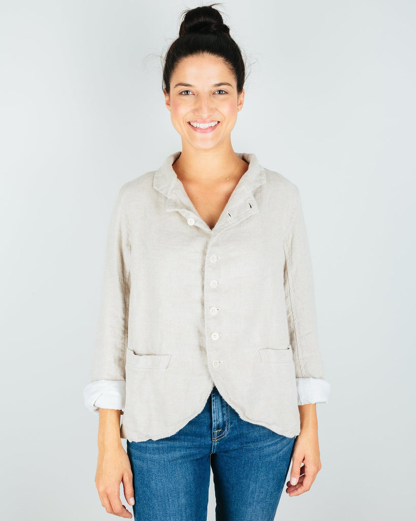 CP Shades Clothing Natural / XS Dree Jacket in Natural Linen Flannel