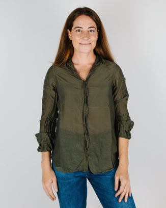 CP Shades Clothing Eliza Blouse in Algae