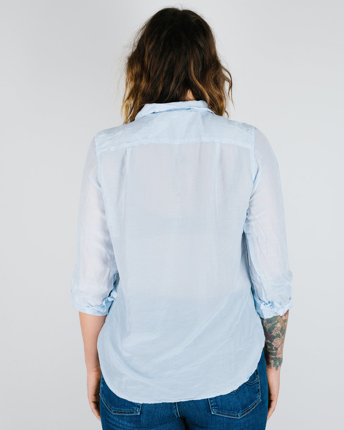 CP Shades Clothing Eliza Blouse in Pond Cotton Silk