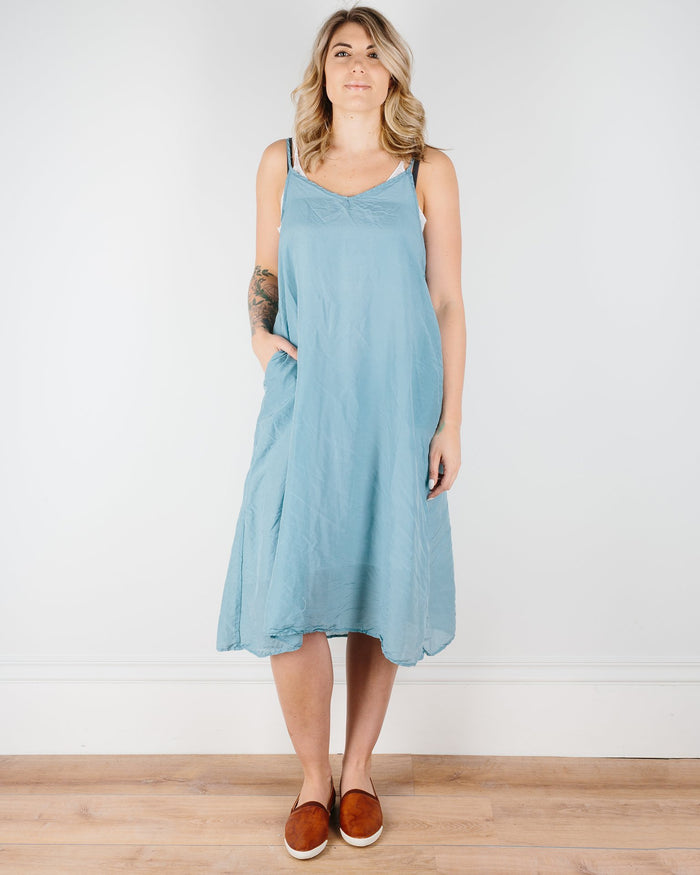 CP Shades Clothing Turkish Blue / XS Fairie Dress in Cotton Silk