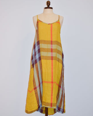 CP Shades Clothing XS Fairie Dress in Yellow Madras