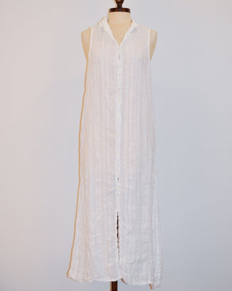 CP Shades Clothing XS Florance Dress in White Dobby Linen