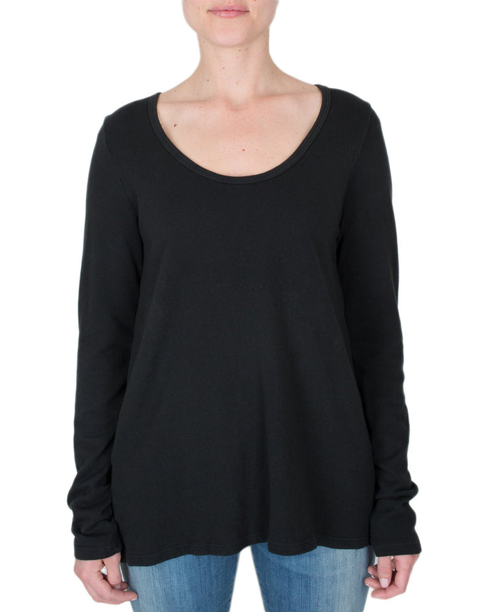 CP Shades Clothing Black / XS Gia Scoop Neck Top
